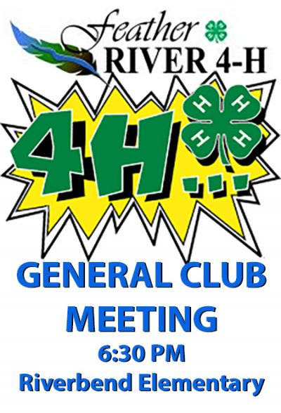 July 19th is our next General Club Meeting
